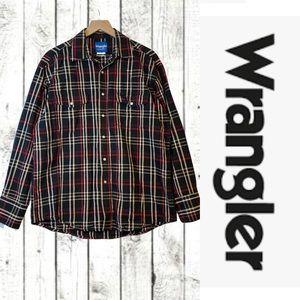 Wrangler VINTAGE Men's Size L Shirt Western Plaid